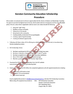 Download Scholarship Procedure